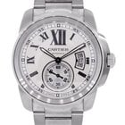 Cartier Calibre Silver Dial Stainless Steel Automatic Watch
