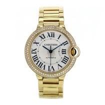 Cartier Ballon Bleu 18k Yellow Gold Two Row Diamond Bezel...
