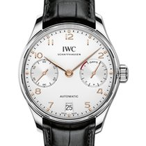 IWC Schaffhausen IW500704 Portugieser Automatic Silver Plated...