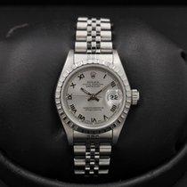 Rolex Date - 26mm - 69240 - Rhodium Roman Dial - Jubilee...