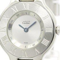 Cartier Polished Cartier Must 21 Steel Quartz Ladies Watch...