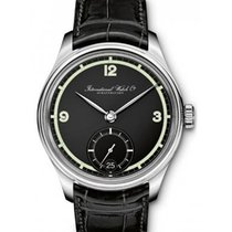 IWC IW510205 Portuguese Hand Wound Manual in Steel - on Black...