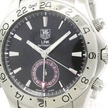 TAG Heuer Polished Tag Heuer Link Gmt Tiger Woods Steel...