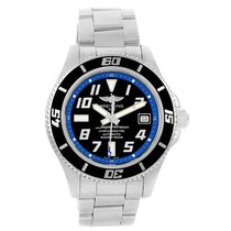 Breitling Superocean 42 Abyss Black Blue Dial Steel Mens Watch...