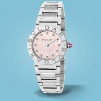 Bulgari BVLGARI Index rosé Diamanten - Stahlband -NEU-