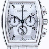 Breguet Heritage Big Date Silver Dial 18kt White Gold Men'...
