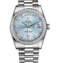 Rolex Day-Date President Platinum  Factory Set Diamonds Watch