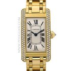 Cartier 18k yellow gold ladies Tank American