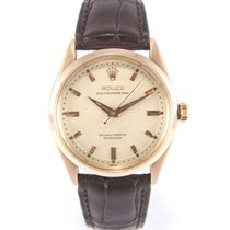 """Rolex Oyster perpetual 6564 Rose gold """"Honeycomb"""" dial"""