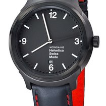 Mondaine UNISEX Quartz 43mm Helvetica No1 New York MH1.B1221.LB