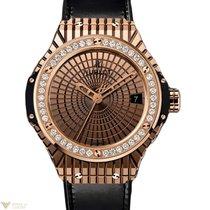 Hublot Big Bang 41 mm 18K Rose Gold Rubber Diamonds Cavier...