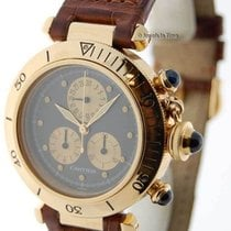 Cartier Pasha 35mm Chronograph 18K Yellow Gold Quartz Mens...