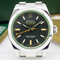 Rolex 116400V Milgauss SS Black Dial Green Crystal (26102)