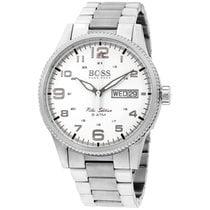 Hugo Boss Pilot Silver Dial Stainless Steel Men's Watch...