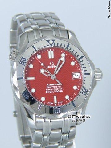 Omega Seamaster Professional 300M Chronometer RARE Red Dial