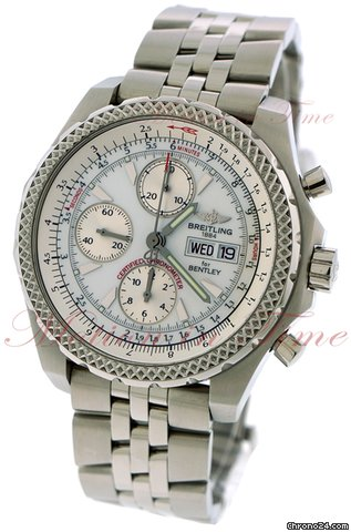 breitling for bentley gt silver dial stainless steel on. Black Bedroom Furniture Sets. Home Design Ideas