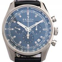 Zenith El Primero 410 Vollkalender Mondphase Chronograph Stahl...