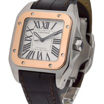 Cartier Santos 100 2 Tone Small Size in 2 Tone