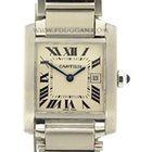 Cartier stainless steel medium Tank Francaise
