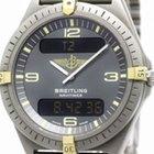 Breitling Aerospace 18k Gold Titanium Quartz Mens Watch 80360...