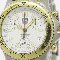 TAG Heuer Polished Tag Heuer Sel Chronograph Gold Plated Steel...