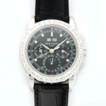 Patek Philippe Platinum Perpetual Calendar Baguette Diamond...