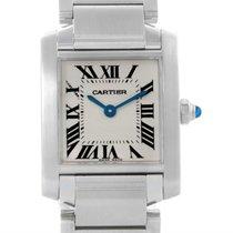 Cartier Tank Francaise Small Womens Quartz Steel Watch W51008q3
