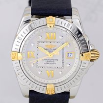 Breitling Lady Windrider Cockpit Stahl Gold Diamond Dial Luxus...