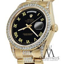 Rolex Yellow Gold Presidential Day Date 36mm Black Roman...