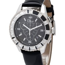 Dior Christal Stainless Steel Chronograph Diamond Ladies Watch...