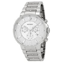 Movado SE Pilot Silver Dial Chronograph Stainless Steel Mens...