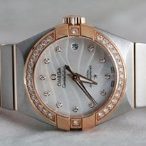 Omega Constellation Co-Axial 18K Rose Gold Diamonds