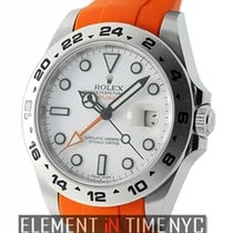Rolex Explorer II 42mm White Dial On Orange Rubber B Ref. 216570