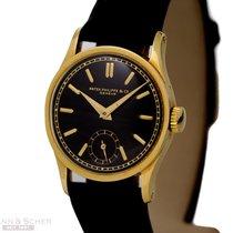 Patek Philippe Vintage Calatrava Black Dial Ref-96 18k Yellow...