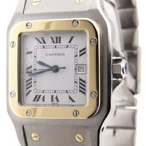 Cartier Santos 18K Yellow Gold & Stainless Steel 29mm...
