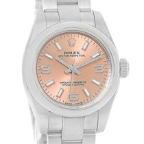 Rolex Nondate Ladies Salmon Dial Ladies Watch 176200 Box Papers