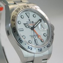 Rolex Explorer II 2 SS White Dial w/Box + Papers- 216570