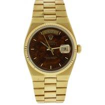 Rolex Oysterquartz Day-Date 18K YG 19018 Wood Dial