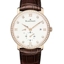 Blancpain 6606-2987-55B Villeret Ultra-Slim in Rose Gold Bezel...