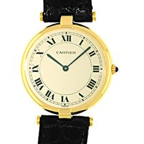 "Cartier Round Case ""Vendome Classique"" Strapwatch."