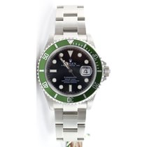 Rolex Submariner 16610LV Green Anniversary Model with Maxi...