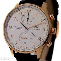 IWC Portugieser Chronograph 18k Rose Gold Ref-IW371480 Box...