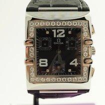 Omega Constellation Quadra Chronograph mit Diamantenbesatz