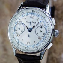 Ernest Borel 1950s Swiss Made 35mm Mens Stainless Steel...