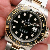 Rolex Gmt-master Ii 116713 Mens Steel & Gold Black Dial...