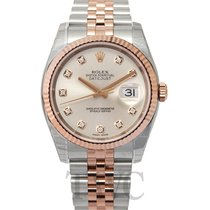 Rolex Datejust Ivory 18k Rose Gold/Steel G Jubilee 36mm - 116231
