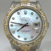 Rolex Two Tone 18k Solid Gold Steel Datejust Mop Dial Diamond...