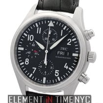 IWC Pilot Collection Stainless Steel Chronograph Black Dial 42mm