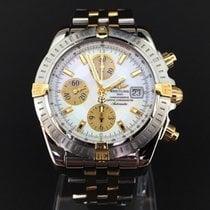百年靈 (Breitling) Chronomat Evolution Pilotband Gold Steel 44 mm...