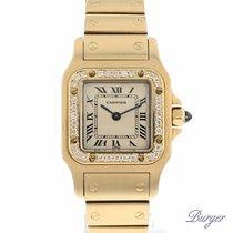 Cartier Santos Galbee PM Yellow Gold Diamonds